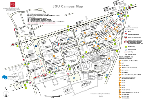 JGU Campus Map (link to enlarged version)