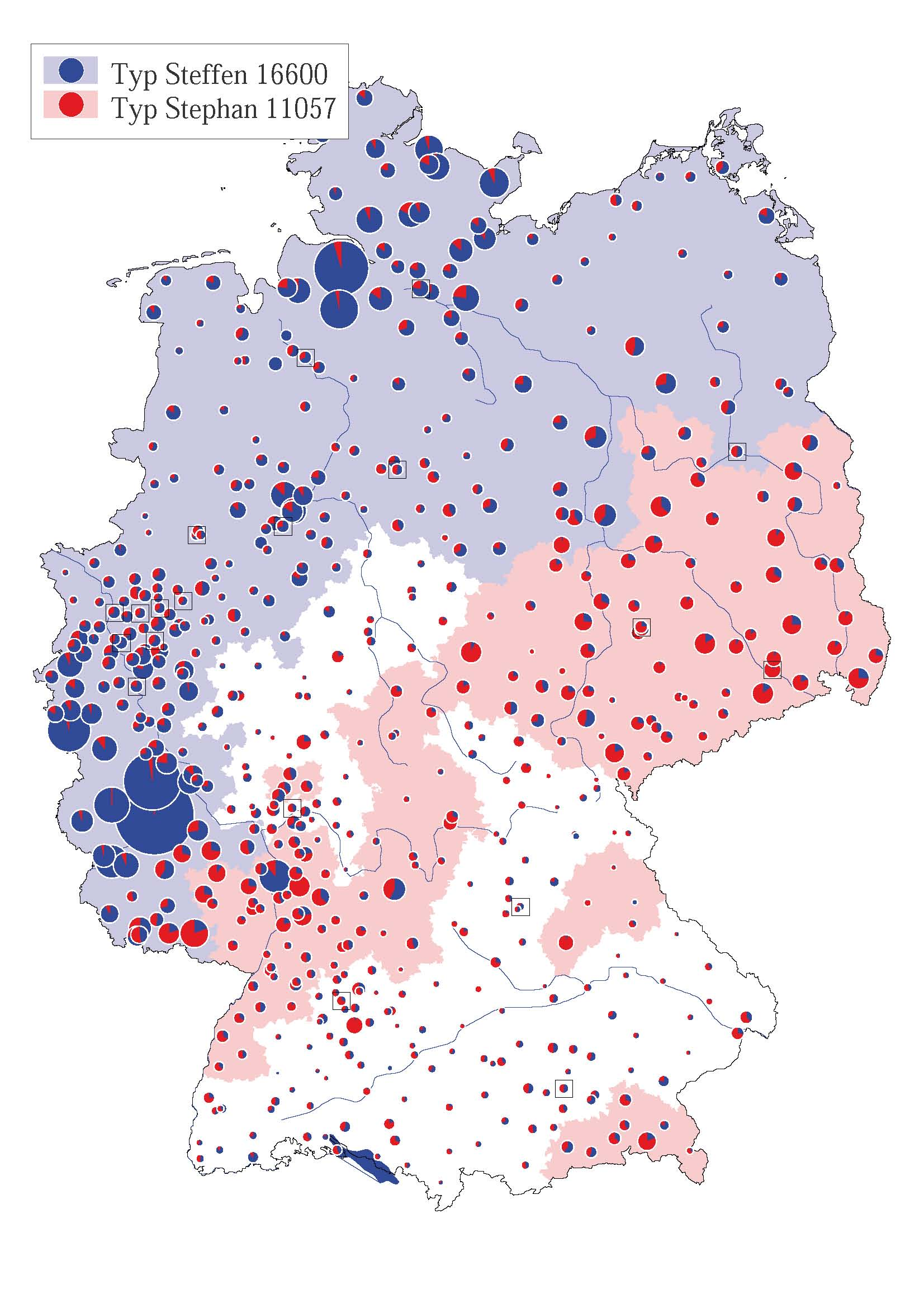 Second Volume Of The German Surname Atlas Published - Interactive us surnames map